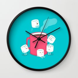 hot cocoa. Wall Clock