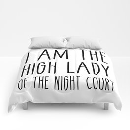 high lady of the night court (acomaf) Comforters