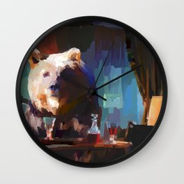 The Dinner Guest or The Bear who came to Dinner Wall Clock
