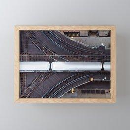 Chicago El Train Going Downtown Framed Mini Art Print