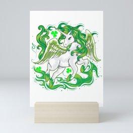 Irish Unicorn Saint Patrick Day Mini Art Print