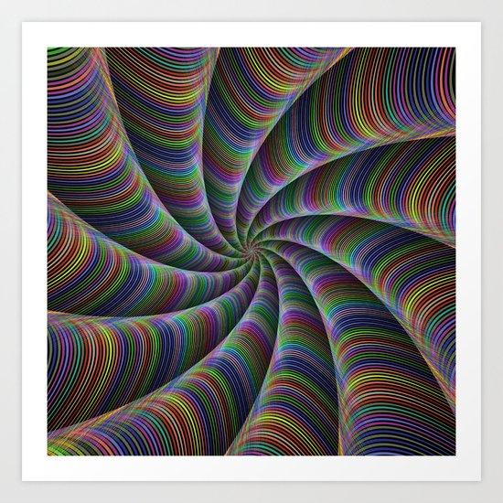 Infinite color fun Art Print