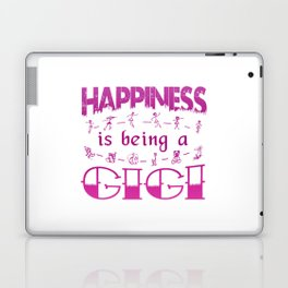 Happiness is Being a GIGI Laptop & iPad Skin