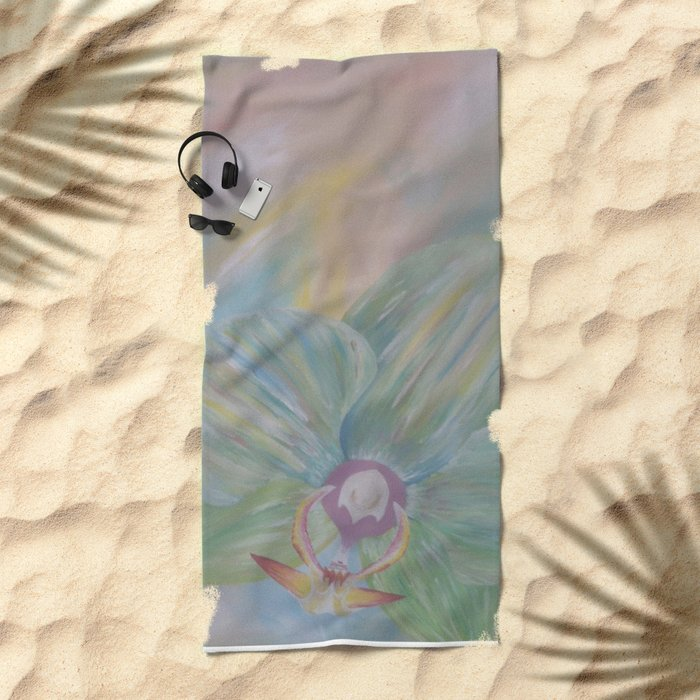 Tipsy Orchid Beach Towel