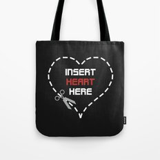 Insert Heart Here Tote Bag