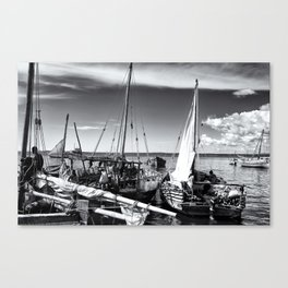 Dhow Zanzibar Indian Ocean Canvas Print