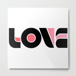 Love (Black & Pink) Metal Print