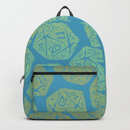 d20 - light blue and yellow gradient - icosahedron for nerds  Backpack