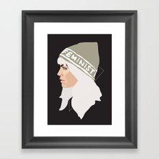 Feminist (Silver) Framed Art Print