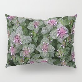 WILD SALVIA MAUVE AND GRAY GREEN Pillow Sham