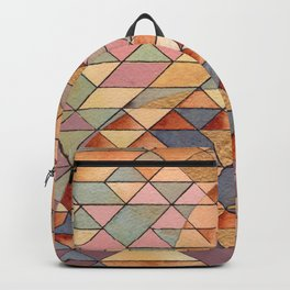 Triangles Circles Golden Sun Backpack