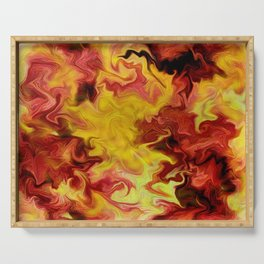 Wall of fire  Serving Tray