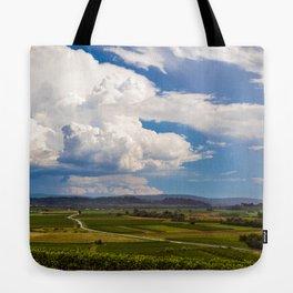 Stormy day in the vineyards of Brda, Slovenia Tote Bag