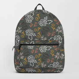 Tossed Spring Florals and Leaves Backpack