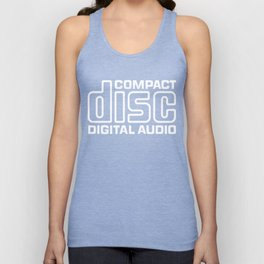 Compact Disk Digital Audio Logo - White Unisex Tank Top