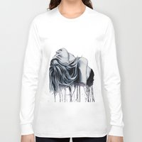 cara delevingne Long Sleeve T-shirts featuring Cara Delevingne by Asquared2Art