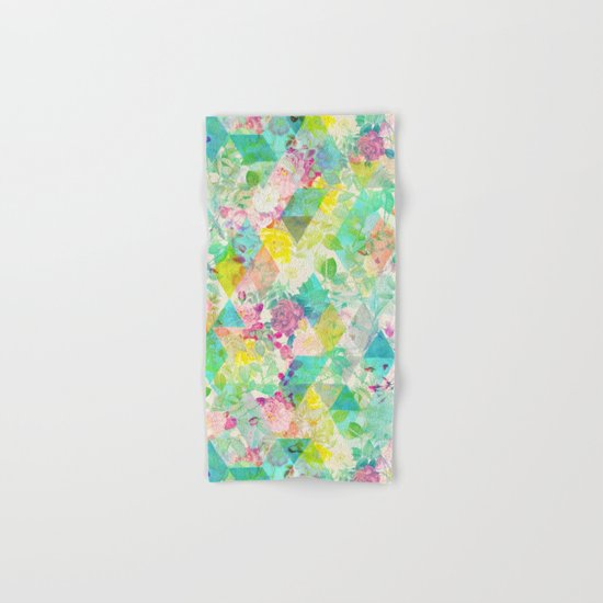 Floral triangles Hand & Bath Towel