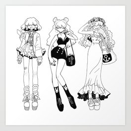 Sketch With Me: Three Styles Art Print