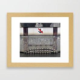 Don't Drop Anchor Here Framed Art Print