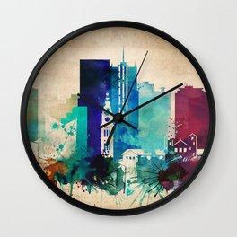 Denver Vintage skyline Wall Clock
