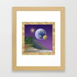 """NO WORLD IS """"ALIEN"""" Framed Art Print"""