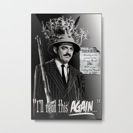 "Gomez Addams-""Order of the Day"" Metal Print"