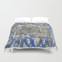 birdy Duvet Covers featuring Birdy by Allena Noel Design