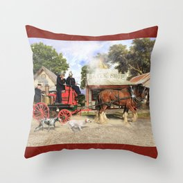 Fire Fire Throw Pillow
