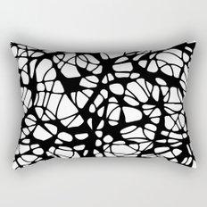 black curves Rectangular Pillow