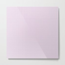 Not Your Granny's Square Pattern in Millennial Pink Metal Print