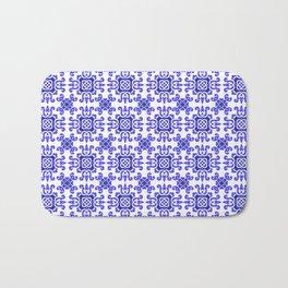Classic European Blue Tiles Bath Mat