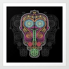 Boho Mask Art Print
