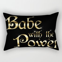 Labyrinth Babe With The Power (black bg) Rectangular Pillow