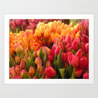 Tulips at Pike Place Market Art Print