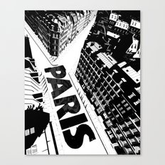 Cities in Black - Paris Canvas Print