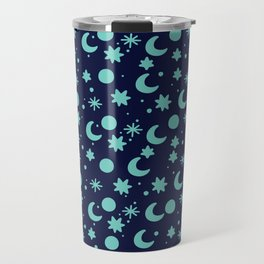 Cosmis space in blues colors Travel Mug