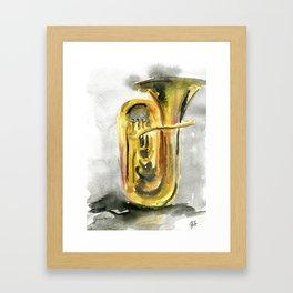 Solo tuba Framed Art Print