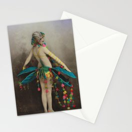 Victorian Vintage Posing Lady Erotic French Colour Stationery Cards