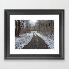 SnowShadow Framed Art Print
