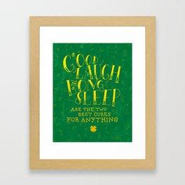 Laugh and Sleep Framed Art Print