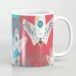 Magic Rocket Wings Space Print Coffee Mug