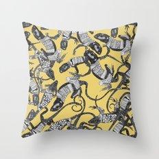just lizards sunshine Throw Pillow