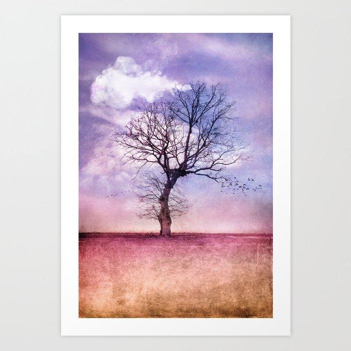 ATMOSPHERIC TREE | Early Spring Art Print