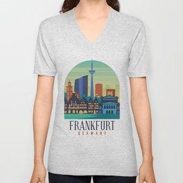Frankfurt Germany Unisex V-Neck