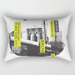 An other day in New York city 1986 - Brooklyn Bridge Rectangular Pillow