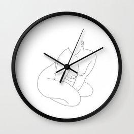 Life drawing illustration - Lilla Wall Clock