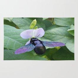Between A Bee & A Flower Rug
