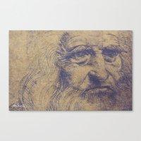 da vinci Canvas Prints featuring Da Vinci by LK Winwright
