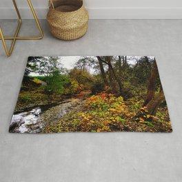 river and garden Rug
