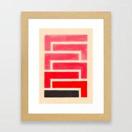 Geometric Pattern Watercolor Painting Framed Art Print